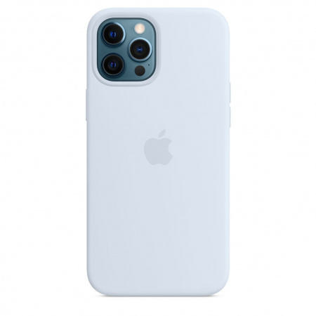 Apple iPhone 12 Pro Max Silicone Case with MagSafe - Cloud Blue