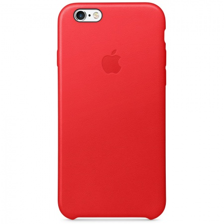 Apple iPhone 6s Leather Case - (PRODUCT)RED