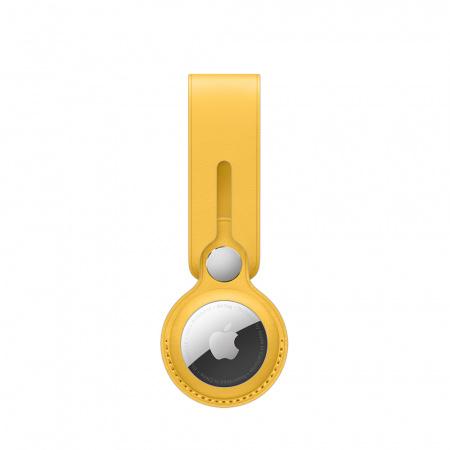 Apple AirTag Leather Loop - Meyer Lemon (Seasonal Summer2021)