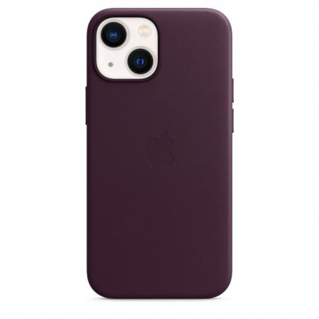 Apple iPhone 13 mini Leather Case with MagSafe - Dark Cherry  (Seasonal Fall 2021)