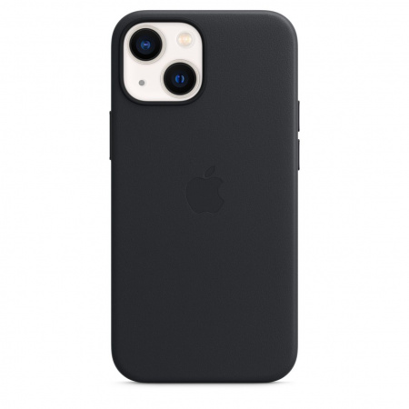 Apple iPhone 13 mini Leather Case with MagSafe - Midnight