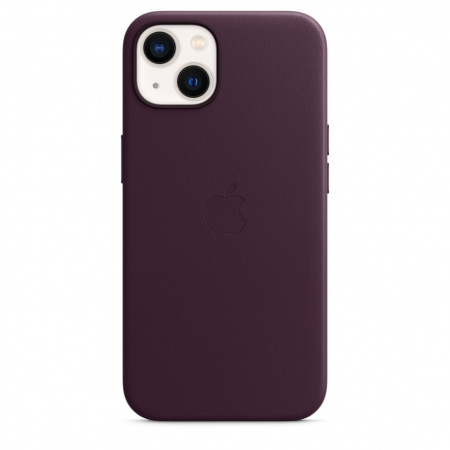 Apple iPhone 13 Leather Case with MagSafe - Dark Cherry  (Seasonal Fall 2021)