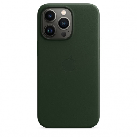 Apple iPhone 13 Pro Leather Case with MagSafe - Sequoia Green  (Seasonal Fall 2021)