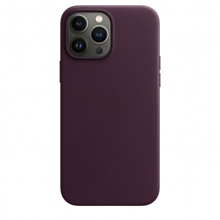Apple iPhone 13 Pro Max Leather Case with MagSafe - Dark Cherry  (Seasonal Fall 2021)