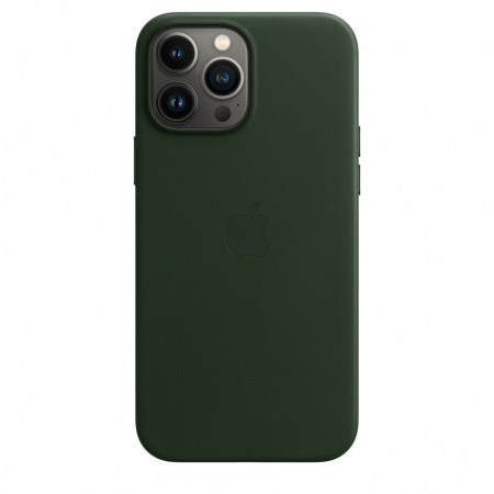 Apple iPhone 13 Pro Max Leather Case with MagSafe - Sequoia Green  (Seasonal Fall 2021)