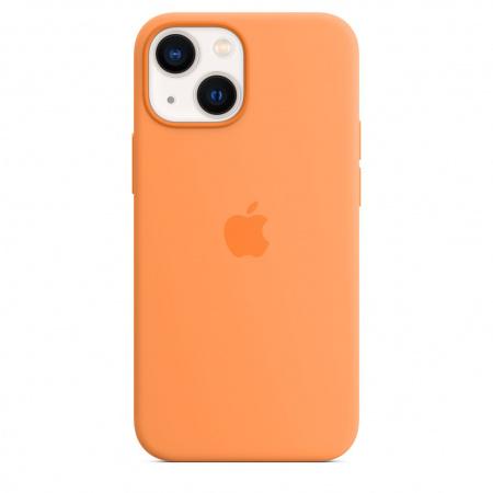 Apple iPhone 13 mini Silicone Case with MagSafe - Marigold  (Seasonal Fall 2021)