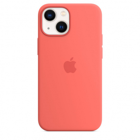 Apple iPhone 13 mini Silicone Case with MagSafe - Pink Pomelo  (Seasonal Fall 2021)
