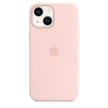 Apple iPhone 13 mini Silicone Case with MagSafe - Chalk Pink
