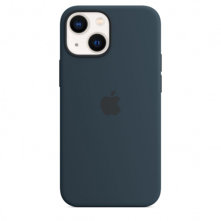 Apple iPhone 13 mini Silicone Case with MagSafe - Abyss Blue