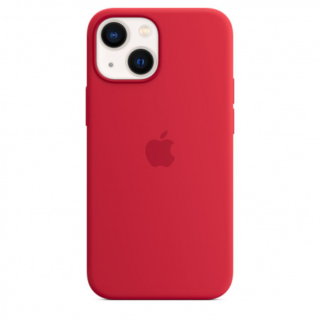 Apple iPhone 13 mini Silicone Case with MagSafe - (PRODUCT)RED