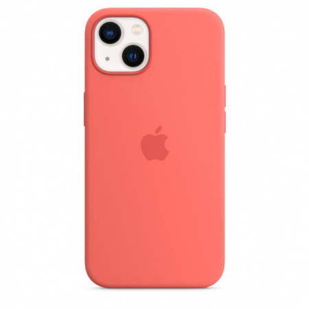 Apple iPhone 13 Silicone Case with MagSafe - Pink Pomelo  (Seasonal Fall 2021)
