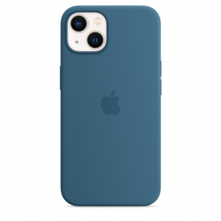 Apple iPhone 13 Silicone Case with MagSafe - Blue Jay  (Seasonal Fall 2021)