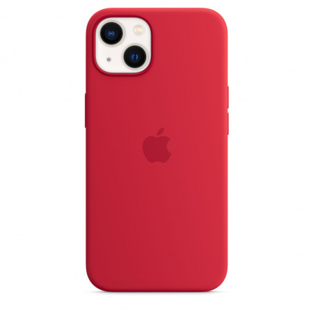 Apple iPhone 13 Silicone Case with MagSafe - (PRODUCT)RED