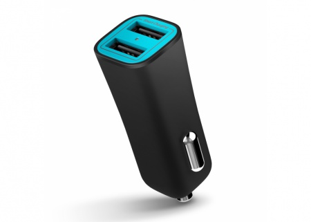 iLuv 2 Port Car Smart Charger 17W - Black
