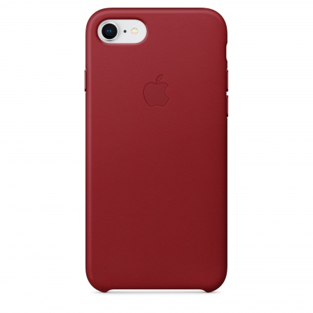 Apple iPhone 8/7 Leather Case - (PRODUCT)RED