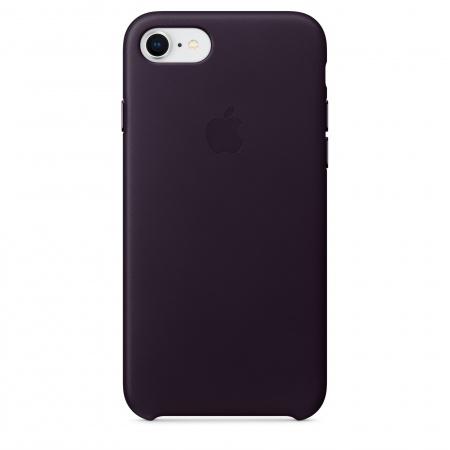 Apple iPhone 8/7 Leather Case - Dark Aubergine