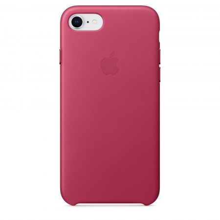 Apple iPhone 8/7 Leather Case - Pink Fuchsia