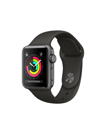 Apple Watch Series 3 GPS 38mm Space Grey Aluminium Case with Grey Sport Band
