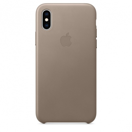 Apple iPhone XS Leather Case - Taupe