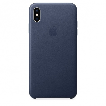 Apple iPhone XS Max Leather Case - Midnight Blue