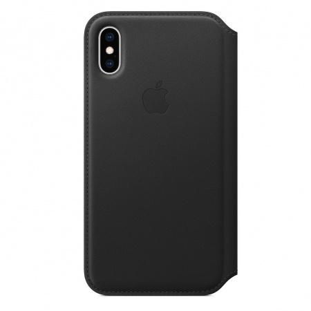 Apple iPhone XS Leather Folio - Black