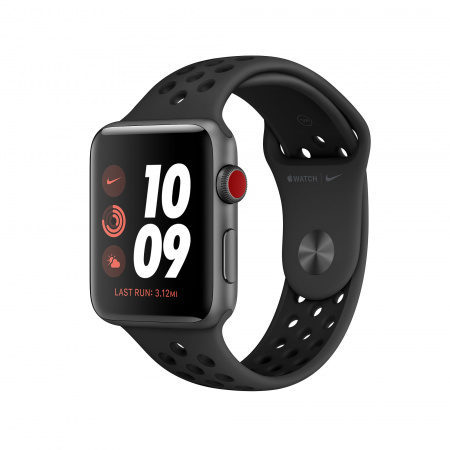 Apple Watch Nike Series 3 GPS + Cellular, 38mm Space Grey Aluminium Case with Anthracite/Black Nike Sport Band