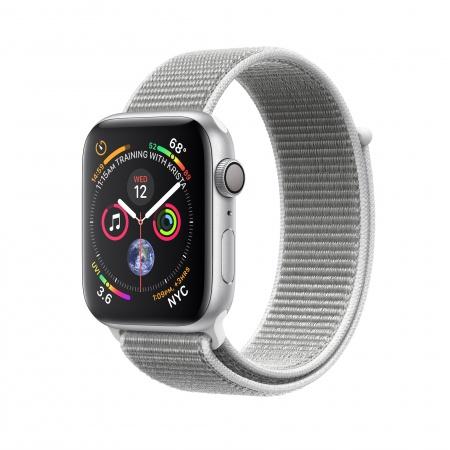 Apple Watch Series 4 GPS, 40mm Silver Aluminium Case with Seashell Sport Loop