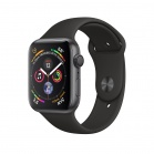 Apple Watch Series 4 GPS, 44mm Space Grey Aluminium Case with Black Sport Band