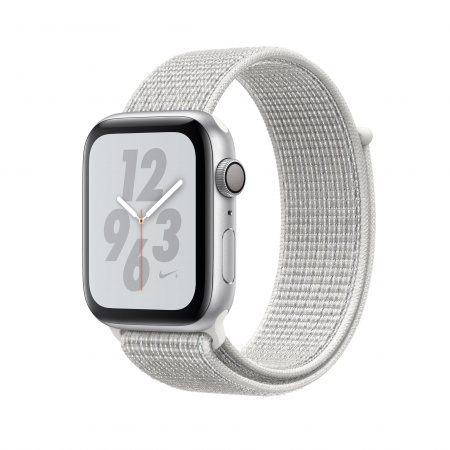Apple Watch Nike+ Series 4 GPS, 40mm Silver Aluminium Case with Summit White Nike Sport Loop