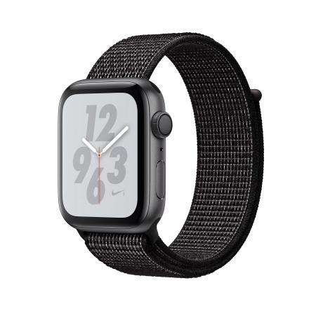 Apple Watch Nike+ Series 4 GPS, 44mm Space Grey Aluminium Case with Black Nike Sport Loop