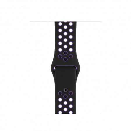 Apple Watch 40mm Nike Band: Black/Hyper Grape Nike Sport Band Ð S/M & M/L (Seasonal Spring2019)