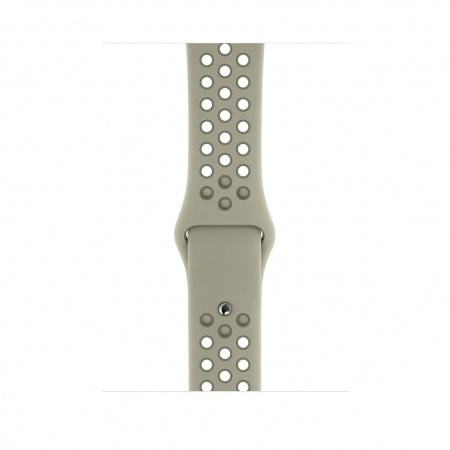 Apple Watch 44mm Nike Band: Spruce Fog/Vintage Lichen Nike Sport Band - S/M & M/L (Seasonal Spring2019)