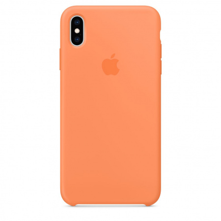 Apple iPhone XS Max Silicone Case - Papaya (Seasonal Spring2019)