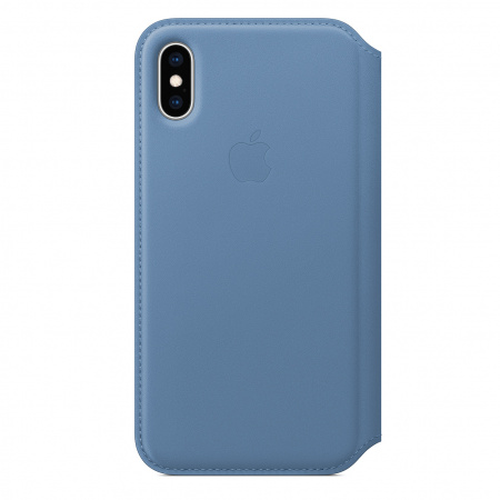 Apple iPhone XS Leather Folio - Cornflower (Seasonal Spring2019)