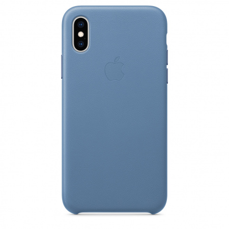 Apple iPhone XS Leather Case - Cornflower (Seasonal Spring2019)