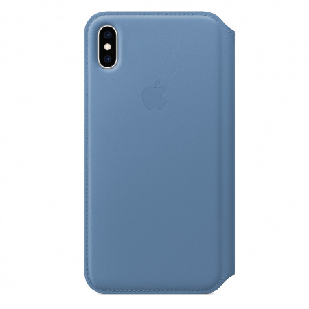 Apple iPhone XS Max Leather Folio - Cornflower (Seasonal Spring2019)