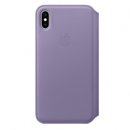 Apple iPhone XS Max Leather Folio - Lilac (Seasonal Spring2019)