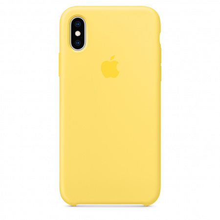 Apple iPhone XS Silicone Case - Canary Yellow   (Seasonal Summer2019)
