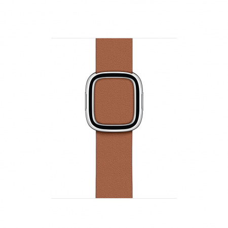 Apple Watch 40mm Band:  Saddle Brown Modern Buckle - Large