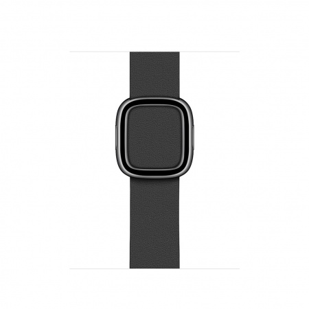 Apple Watch 40mm Band:  Black Modern Buckle - Medium