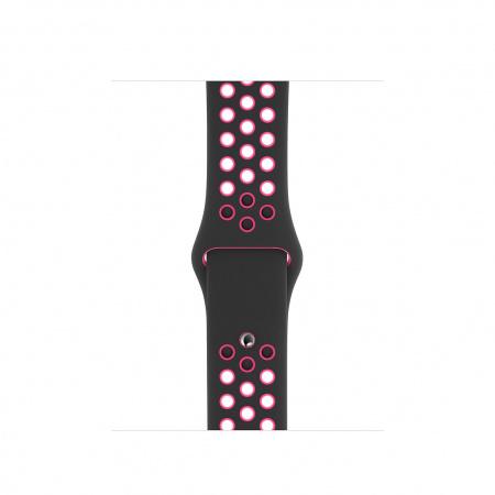 Apple Watch 40mm Nike Band: Black/Pink Blast Nike Sport Band - S/M & M/L (Seasonal Autumn 2019)