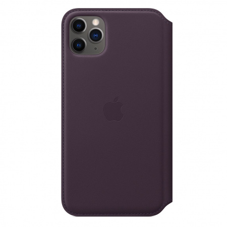 Apple iPhone 11 Pro Max Leather Folio - Aubergine (Seasonal Autumn 2019)