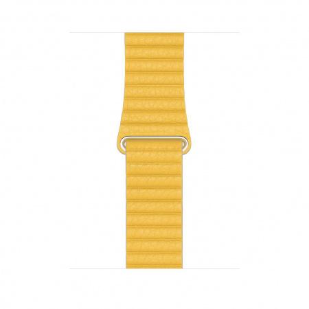 Apple Watch 44mm Band:  Meyer Lemon Leather Loop - Medium