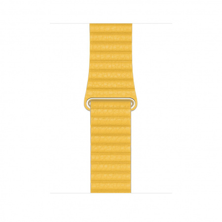Apple Watch 44mm Band:  Meyer Lemon Leather Loop - Large
