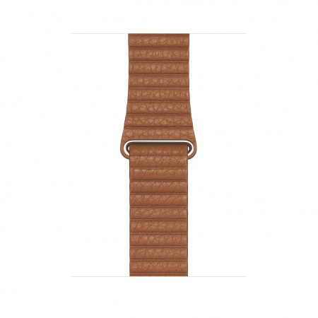 Apple Watch 44mm Band:  Saddle Brown Leather Loop - Medium