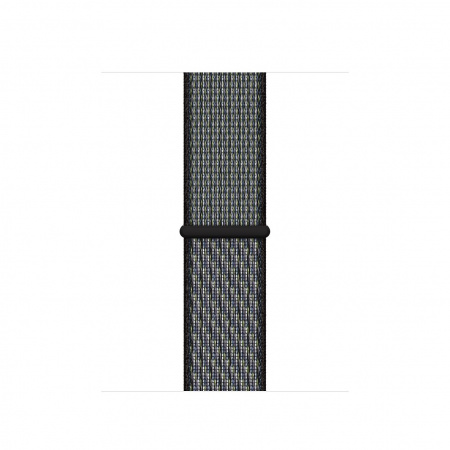Apple Watch 40mm Nike Band:  World Indigo/Lime Blast Nike Sport Loop (Seasonal Spring2020)