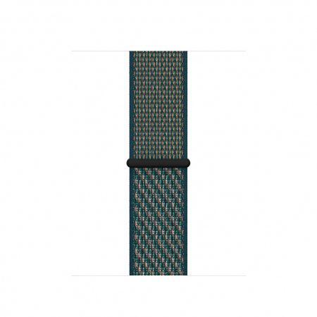 Apple Watch 40mm Nike Band:  Hyper Crimson/Neptune Green Nike Sport Loop (Seasonal Spring2020)