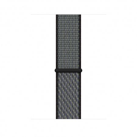 Apple Watch 44mm Nike Band:  World Indigo/Lime Blast Nike Sport Loop (Seasonal Spring2020)