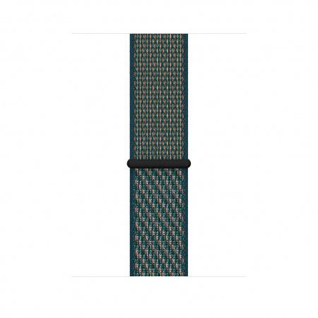 Apple Watch 44mm Nike Band:  Hyper Crimson/Neptune Green Nike Sport Loop (Seasonal Spring2020)