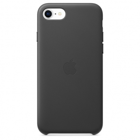 Apple iPhone SE2 Leather Case - Black